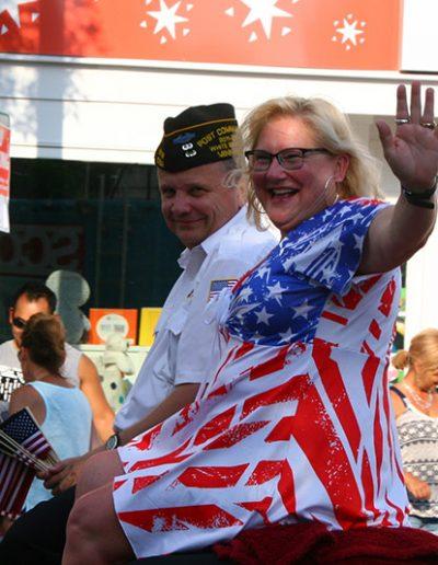Waving at the Manitou Days Grand Parade