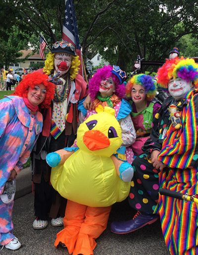 Clowns at the Manitou Days Grand Parade